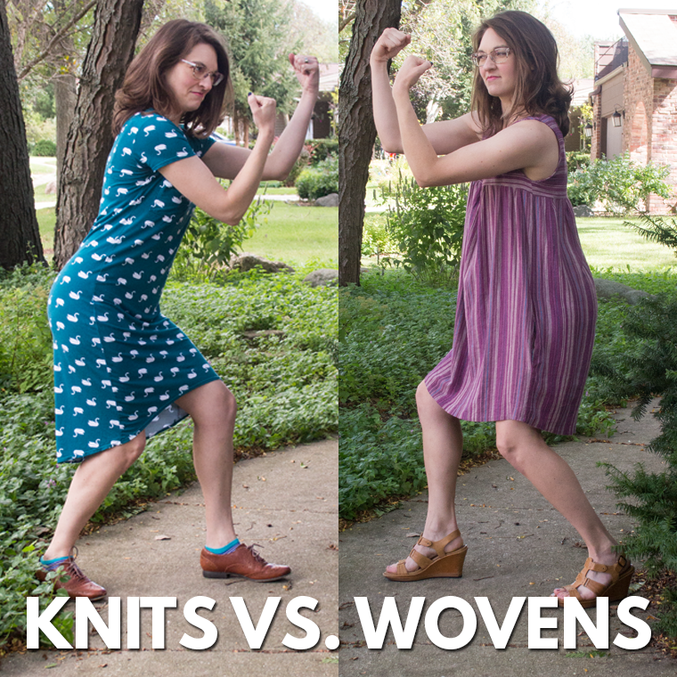 In the battle of knits vs. wovens, do you have a favorite? Keep reading to explore the characteristics of a knit dress and a woven dress.