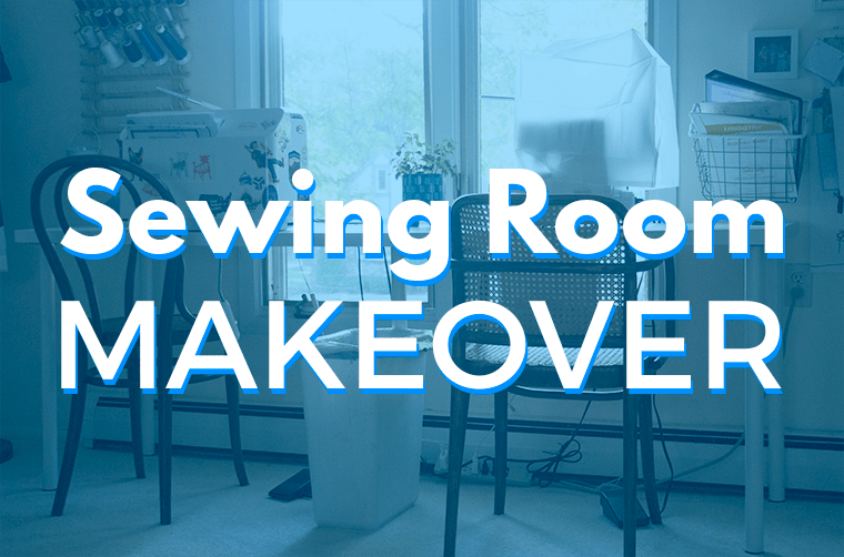 I have a new sewing room setup, which includes new pieces of IKEA furniture. Check out my sewing room makeover!