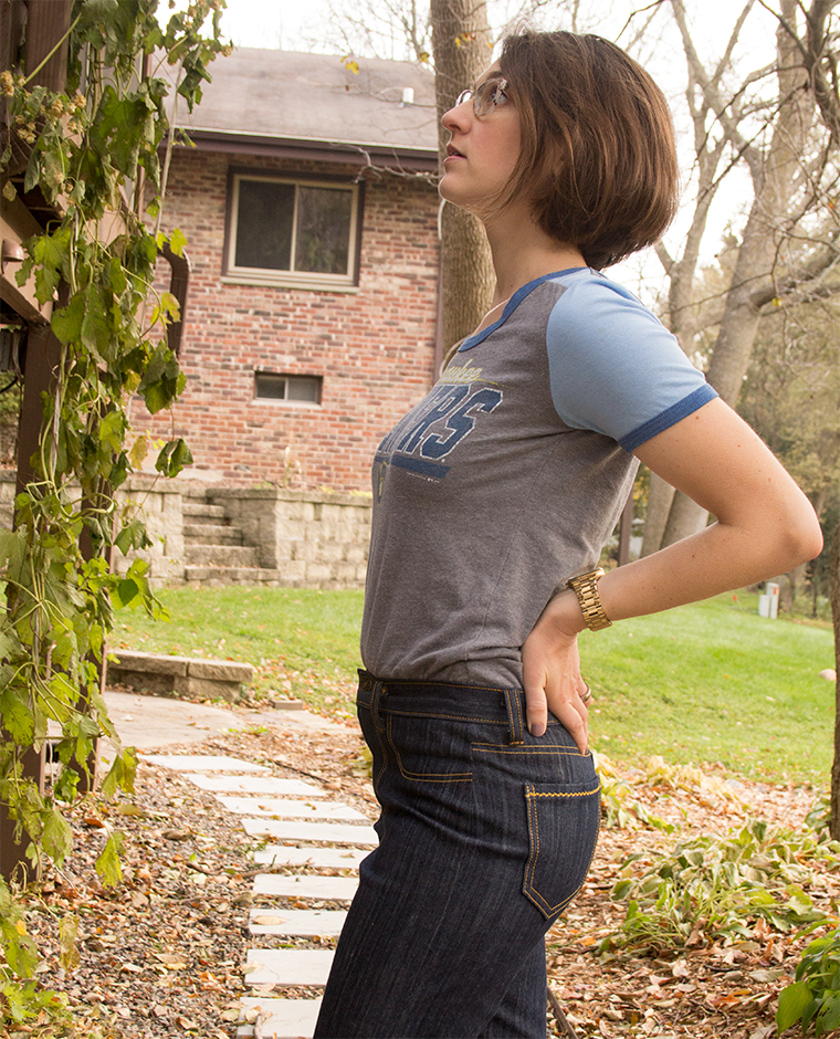 Side detail of the Mia jeans from Sew Over It.