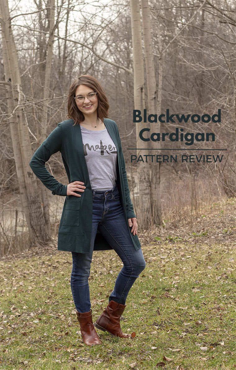 The Blackwood cardigan sewing pattern is destined to become a wardrobe workhorse for me. This version is stitched in super-soft bottle green Merino wool. Read on for tips on sewing the Blackwood.