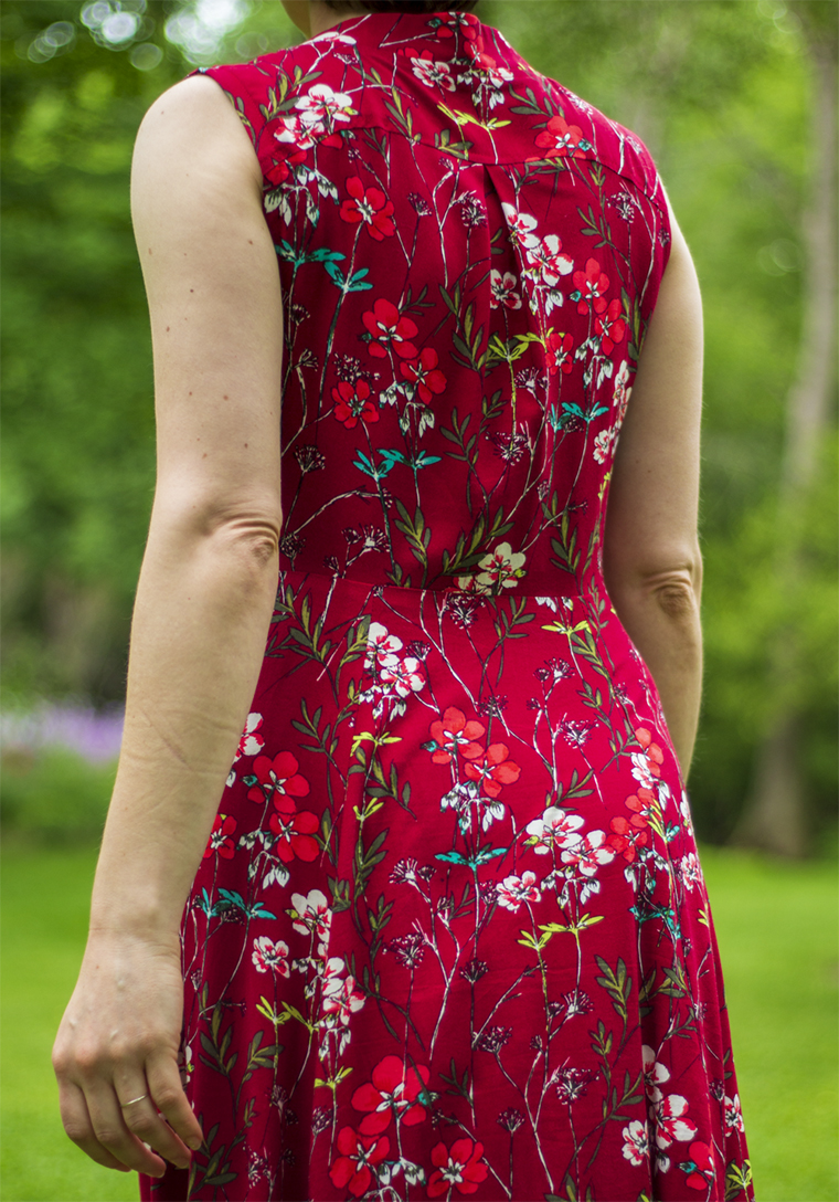 "Back view of the ""Boundless Style"" maxi dress."