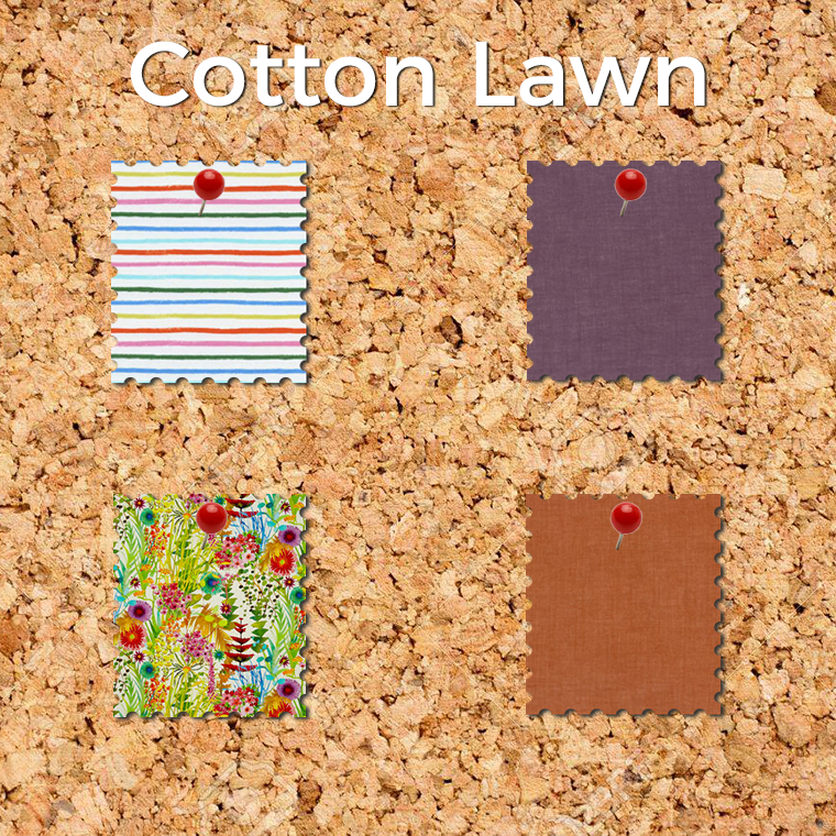Silky cotton lawn is an easy fabric to sew - and one of MY favorite fabrics to wear.