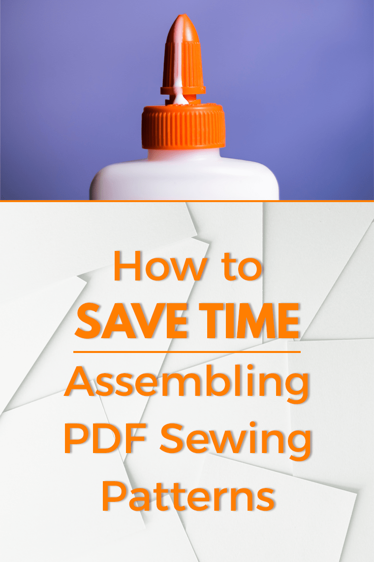 Assembling PDF sewing patterns is not a fun task, especially when you could be sewing. In this post, you will learn how the fold-and-glue method of PDF pattern assembly and why this technique is faster and cheaper than other methods.
