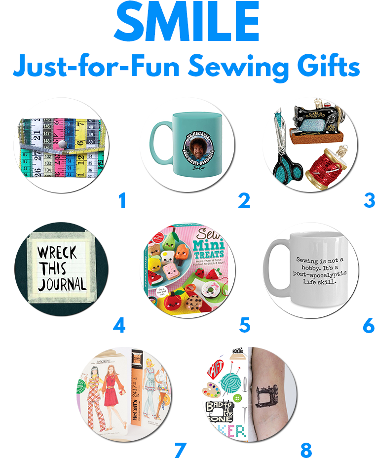 Giggle, ooh, and aww over just-for-fun gifts for sewing lovers to warm the heart.