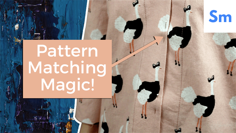 Here's how I matched a pattern fabric across a button-up shirt.