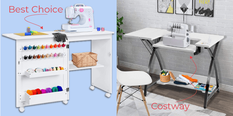 Sewing tables from Best Choice and Costway
