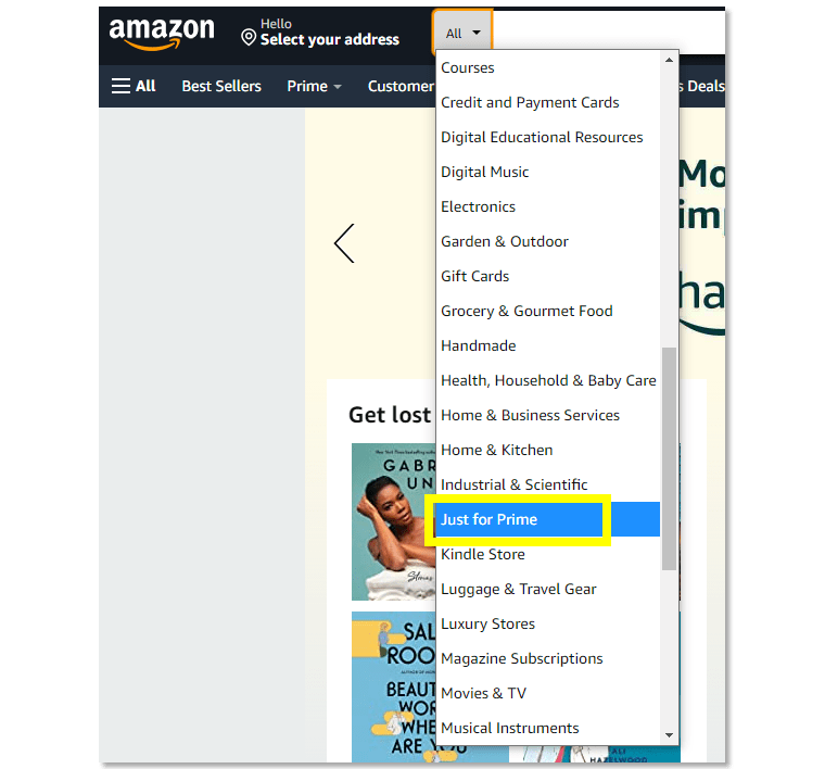 Amazon Prime members have access to special deals.