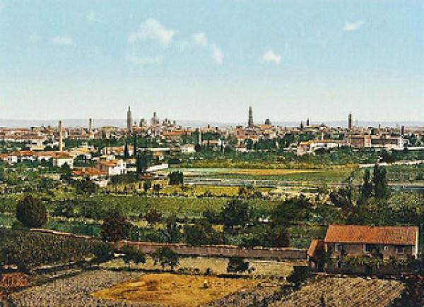 Vista de Zaragoza 1900