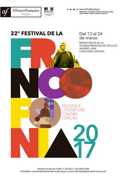 Afiche agenda de actividades de la Alianza Francesa