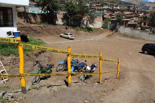Parqueo municipalidad de Otuzco