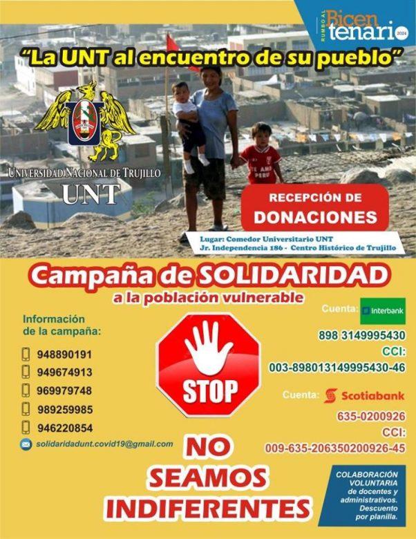Covid-19 UNT promueve la solidaridad