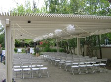 Curtis Hall Patio Ceremony