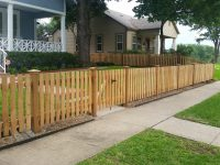 Custom Wood Fence Austin TX | Horizontal Cedar & Picket ...