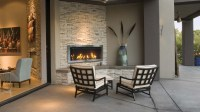 Outdoor Direct Vent Linear Electric Fireplace