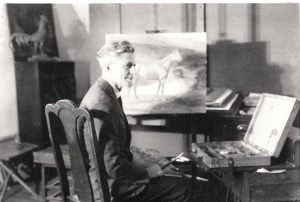 1927 Dayton, OH Franklane Lorraine Sewell, the artist at work