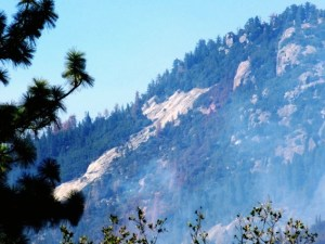 Willow fire and seven 7 rock as seen from Rd 274