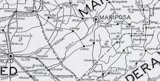 1919 Merced County map