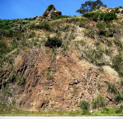 Franciscan Chert Outcrop, Glen Canyon Park, San Francisco, California