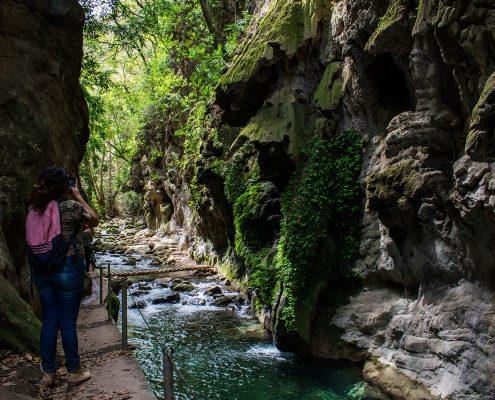 ESCANELA RIVER  PUENTE DE DIOS  Sierra Gorda Ecotours