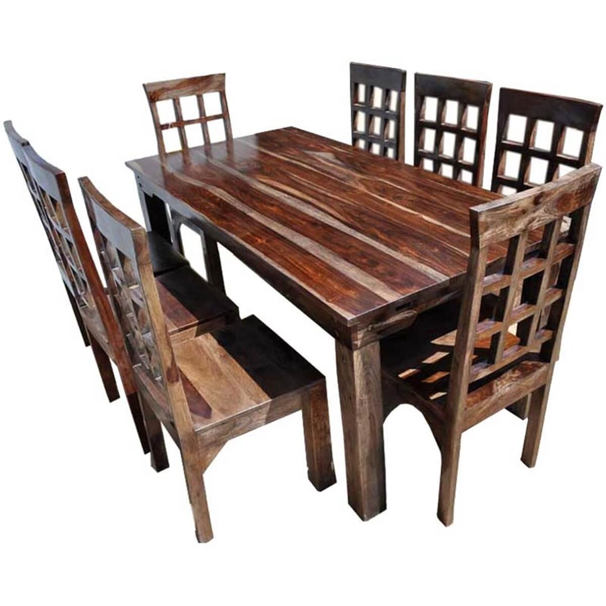 Rustic Dining Chairs Portland Rustic Furniture Extendable Dining Room Table