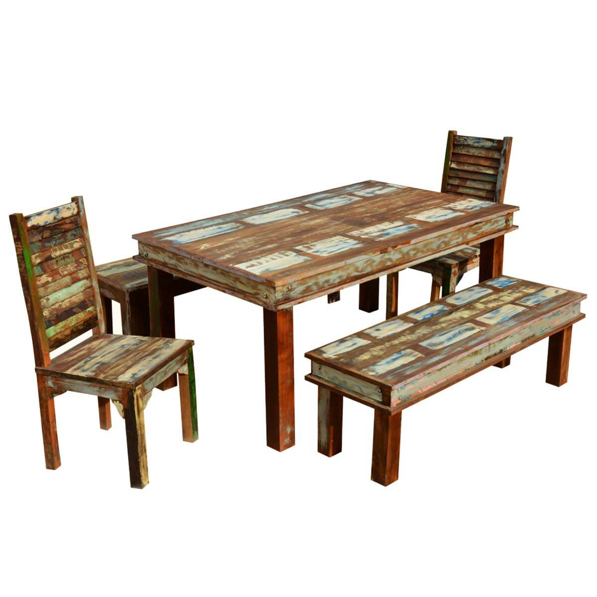 2 Chair Dining Table Sierra Reclaimed Wood Furniture Dining Table With 2 Chairs