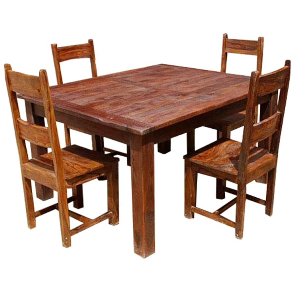 Dining Room Table With Chairs Rustic Solid Wood Appalachian Dining Room Table And Chair Set