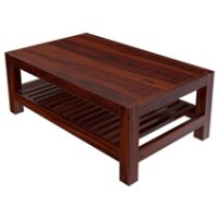 Portland Contemporary Rustic Solid Wood 2 Tier Coffee Table