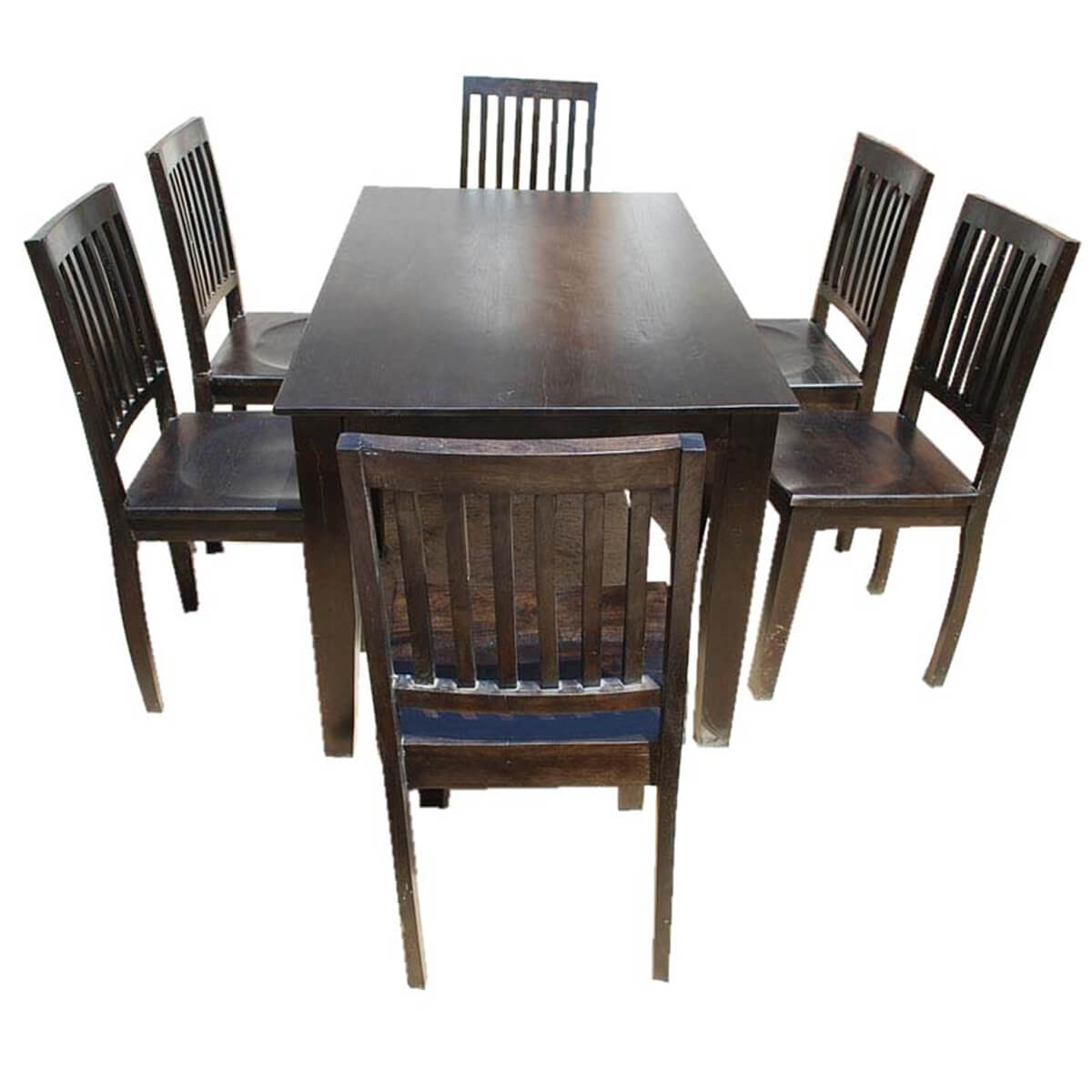Unfinished Dining Room Chairs Solid Wood Lincoln 7pc Dining Room Table And Chair Set