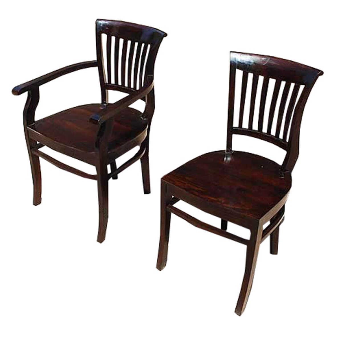 Rustic Wood Chairs Nottingham Rustic Furniture Wood Dining Table And Chair Set