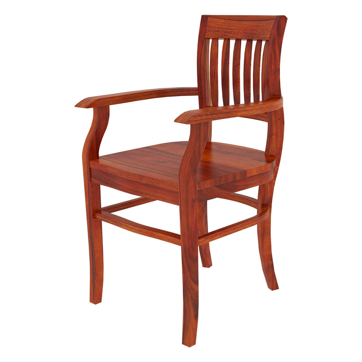 Rustic Dining Chairs Siena Rustic Solid Wood Arm Dining Chair