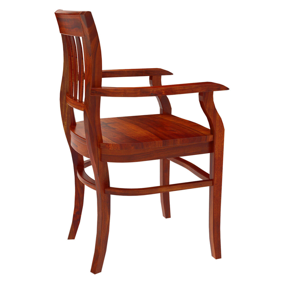 Unfinished Wooden Chairs Siena Rustic Solid Wood Arm Dining Chair