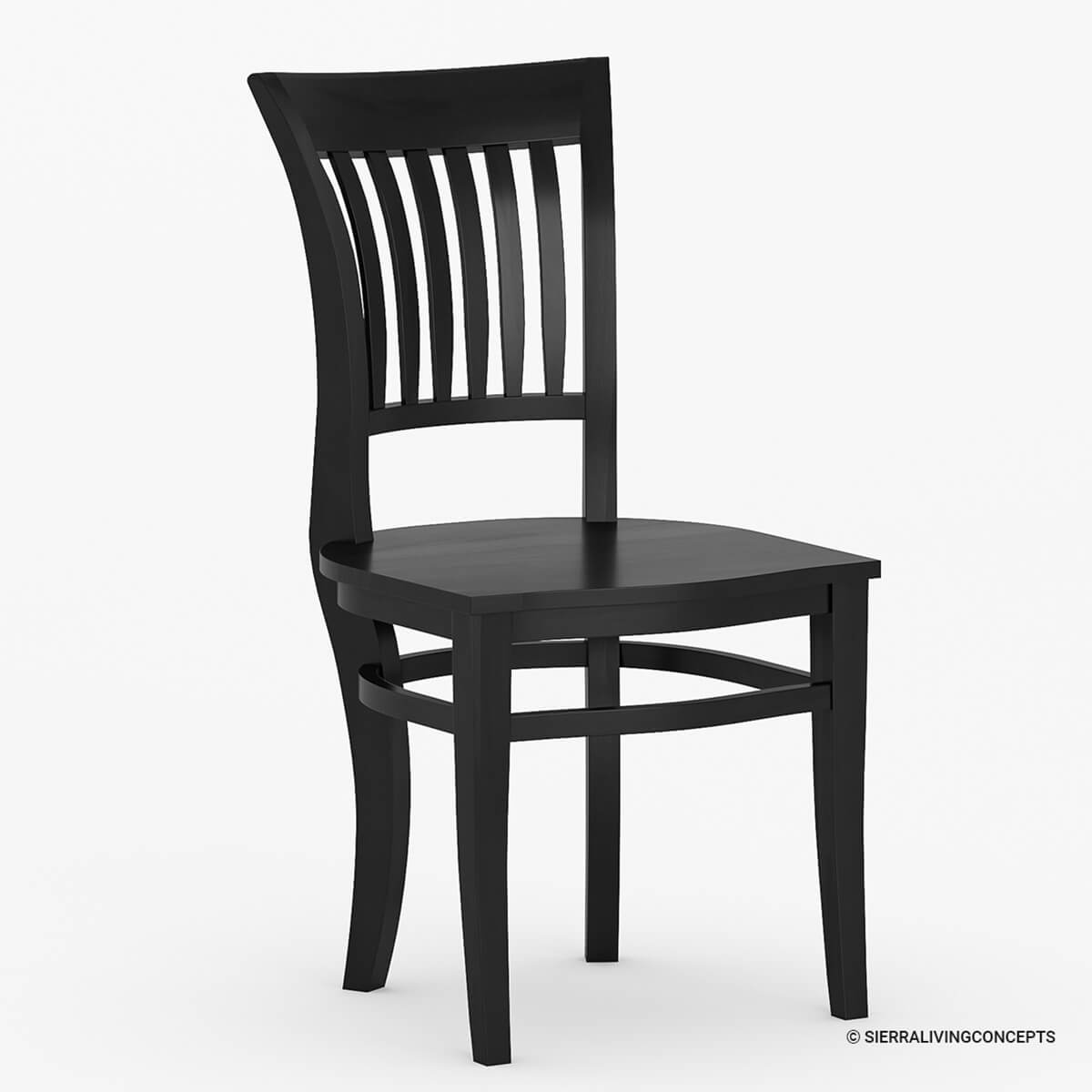 Unfinished Wood Dining Chairs Sierra Nevada Solid Wood Kitchen Side Dining Chair Furniture