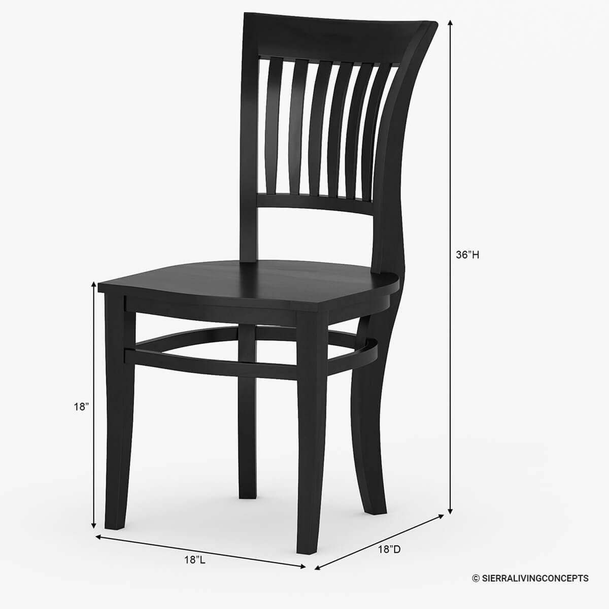 Wood Dining Chair Sierra Nevada Solid Wood Kitchen Side Dining Chair Furniture