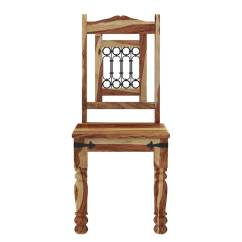 Wrought Iron Kitchen Chairs Range Reviews Peoria Solid Wood And Rustic Dining Chair