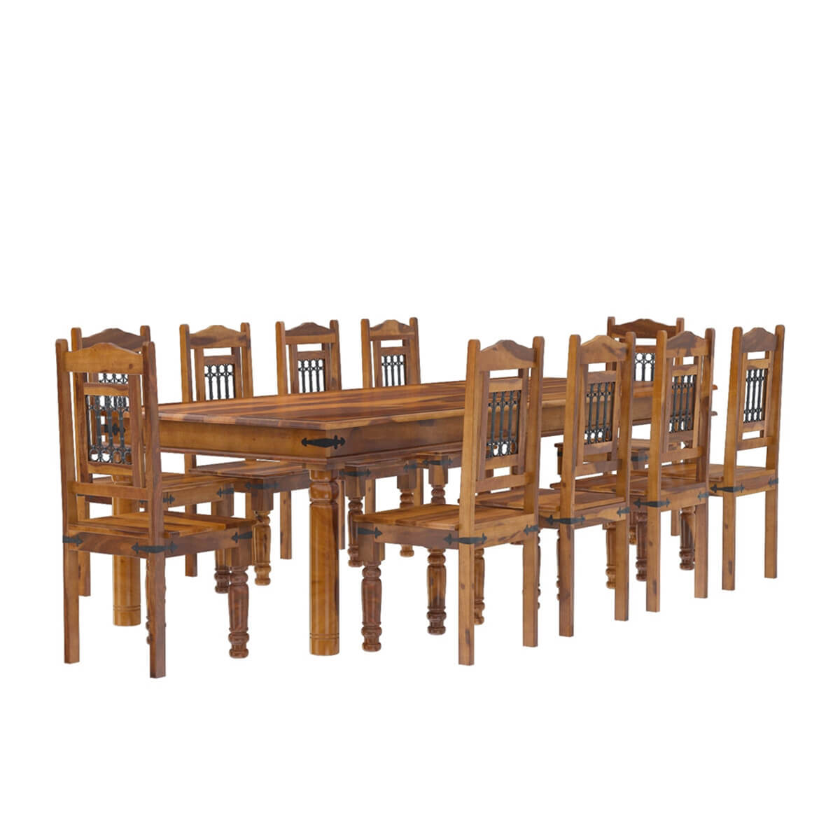 Dining Room Table With Chairs San Francisco Rustic Furniture Large Dining Table With 10