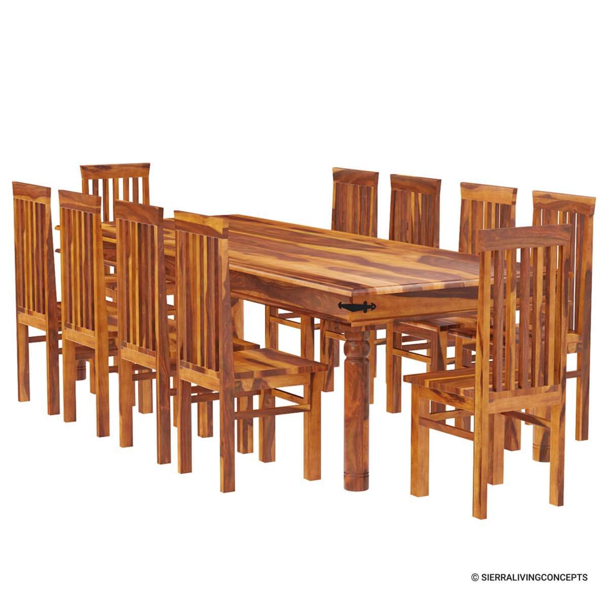10 chair dining table set tufted slipper rustic lincoln study large room for
