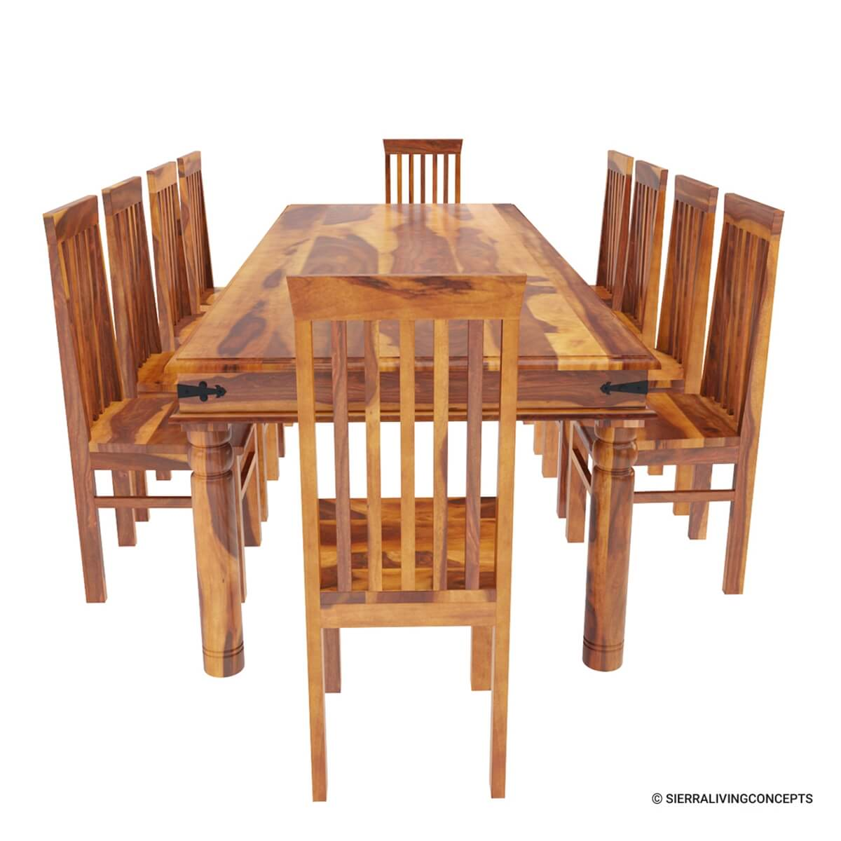 Dining Room Table With Chairs Rustic Lincoln Study Large Dining Room Table Chair Set For