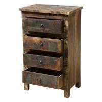 Appalachian Rustic Distressed Reclaimed Wood 4 Drawer ...