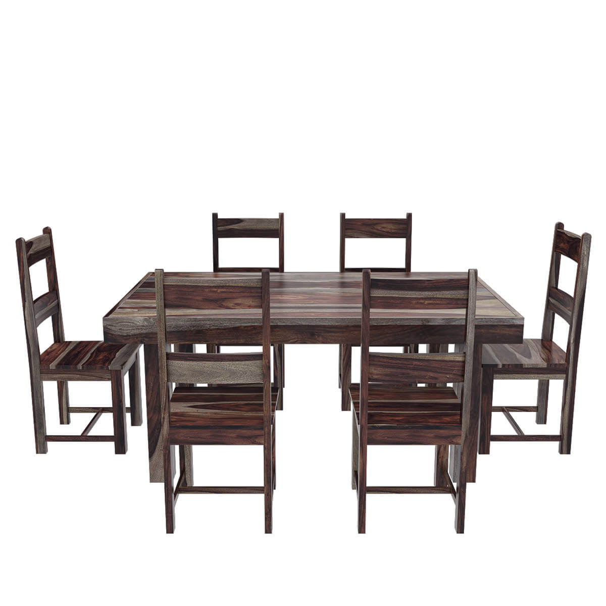 Dining Room Table And Chairs Frisco Modern Solid Wood Casual Rustic Dining Room Table