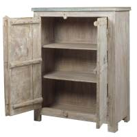 Appalachian Rustic Antique White Reclaimed Wood Storage ...