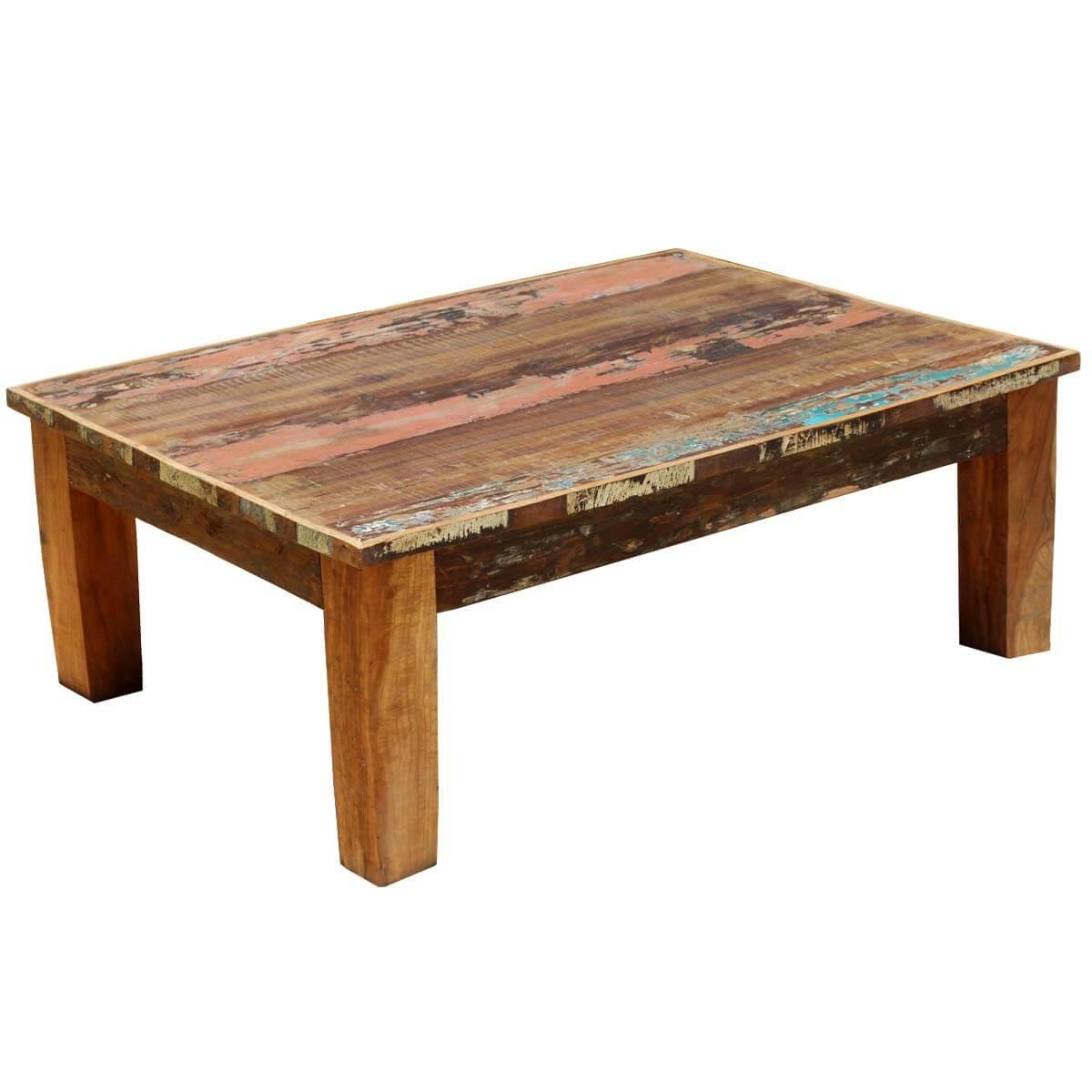Appalachian Rustic Mixed Reclaimed Wood Coffee Table