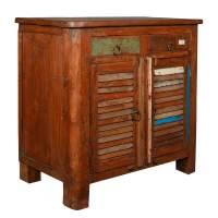Allendale Rustic Reclaimed Wood Shutter Door 2 Drawer ...