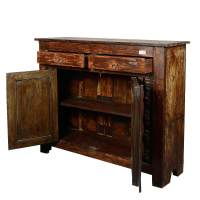 Wild West Rustic Reclaimed Wood Furniture Storage Console ...