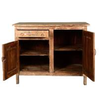 Farmhouse Rustic Reclaimed Wood Storage Cabinet