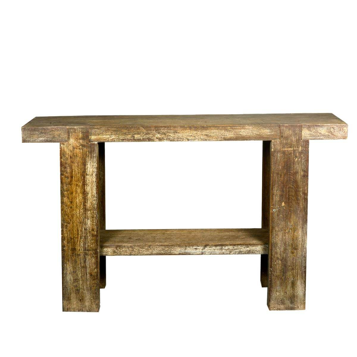 sofa console tables wood decorating living room with dark grey rustic 10 holes reclaimed table hall