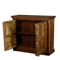 2 Door Rustic Reclaimed Wood Buffet Storage Accent Cabinet