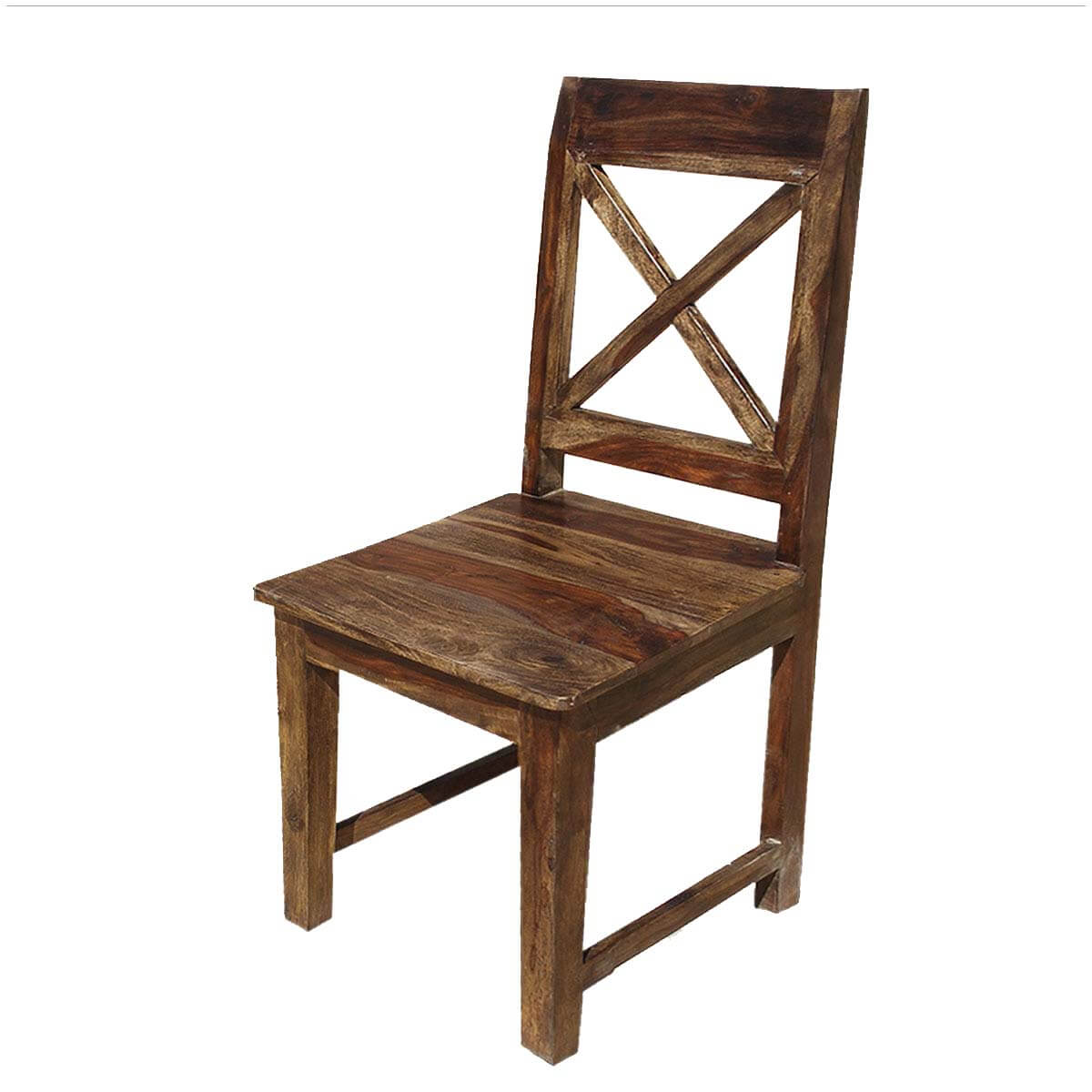Unfinished Wood Dining Chairs Dallas Ranch Solid Wood X Back Dining Chair Set Of 2