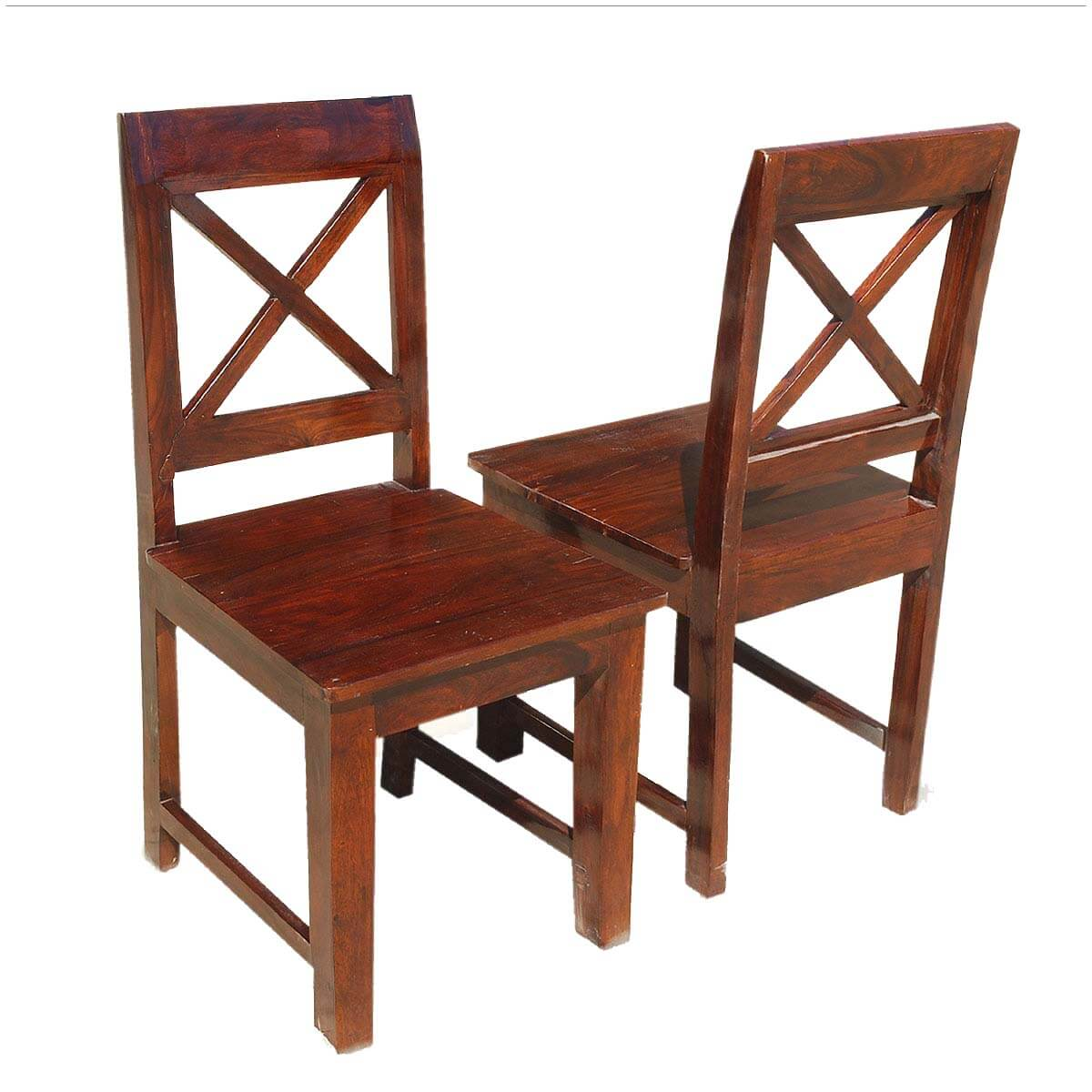 Farmhouse Dining Chairs Oklahoma Farmhouse Solid Wood X Back Dining Chair Set Of 2