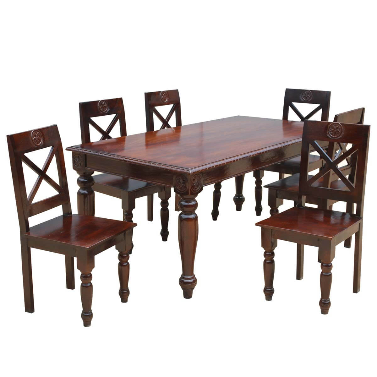 Rustic Dining Chairs Texas Rustic Dining Table And Chairs Set