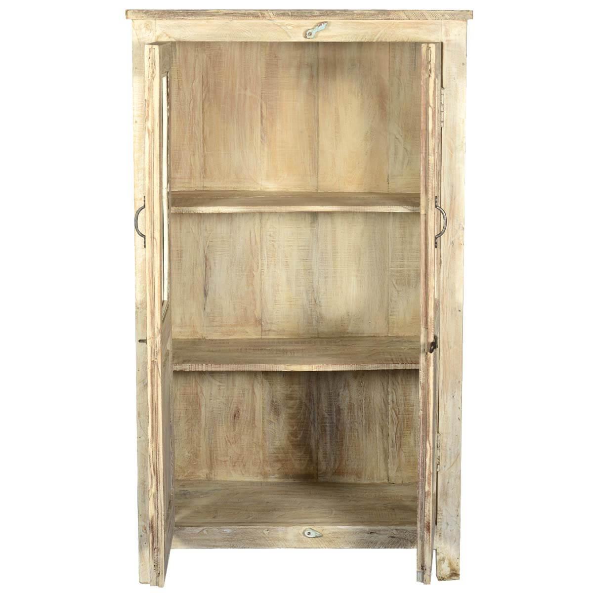 2 Door Reclaimed Wood Tall Storage Cabinet